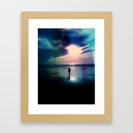 A Walk on the Beach Framed Art Print