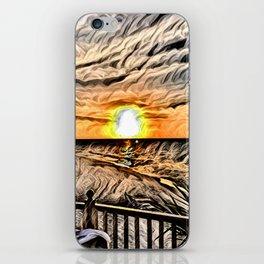 Puesta de Sol Tropical iPhone Skin