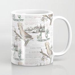 Paris Cockatoo Toile Coffee Mug