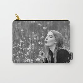 Light Breathing b&w Carry-All Pouch