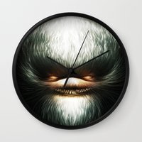 evil Wall Clocks featuring Little Evil by Dr. Lukas Brezak