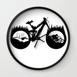 DH Bike Wall Clock