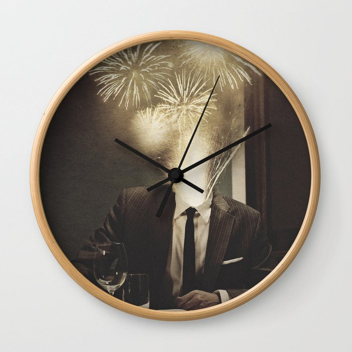 Lovely Head - Fireworks Wall Clock