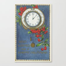 Best Wishes for a Vintage New Year Canvas Print