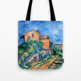 """Paul Cezanne """"Maison Maria with a View of Chateau Noir"""" Tote Bag"""