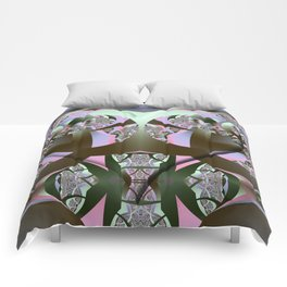 Wild thing, cool abstract with a Heart Comforters