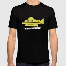The Life Aquatic with Steve Zissou This is an Adventure Mens Fitted Tee X-LARGE Black