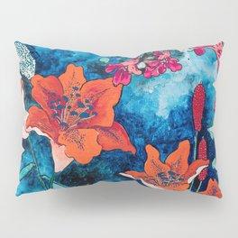 Blooming Night Garden: Twilight Pillow Sham