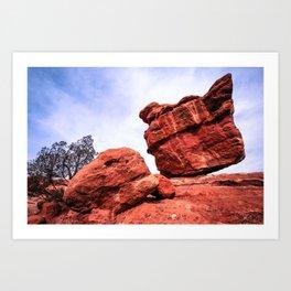 Balanced Rock - Garden of the Gods - Colorado Springs Art Print