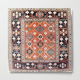 Shirvan East Caucasus Rug Print Metal Print