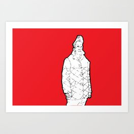 The quiff 2 Art Print