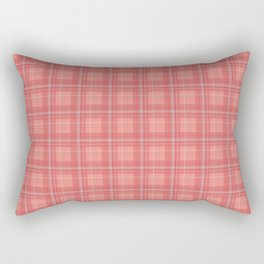 Coral Plaid Rectangular Pillow