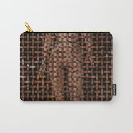 Abstract Nude Female Weave Pattern Carry-All Pouch