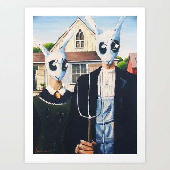 Rabbit Gothic Art Print