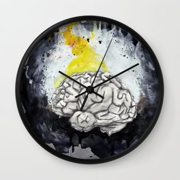 Grey Matters Wall Clock