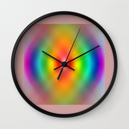 Rainbow Spiral Wall Clock