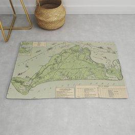 Vintage Map of Marthas Vineyard (1913) Rug