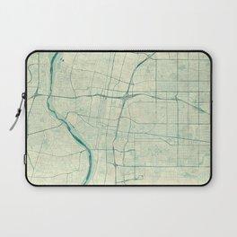 Albuquerque Map Blue Vintage Laptop Sleeve