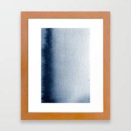 Indigo Vertical Blur Abstract Framed Art Print