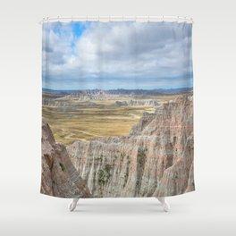 Badlands - Western Scenery in Badlands National Park South Dakota Shower Curtain