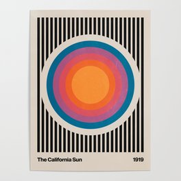 Vintage California Sun Poster