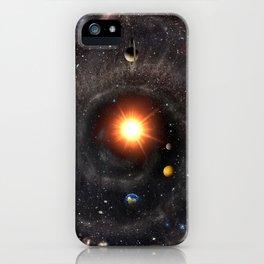 Hexagonal cosmic view iPhone Case