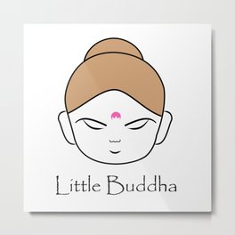 Cute little Buddha Metal Print