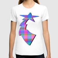 plaid T-shirts featuring Misty Plaid  by Christy Leigh