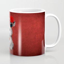 Red Day of the Dead Sugar Skull Hippo Baby Coffee Mug