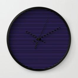 Gothic purple stripes Wall Clock