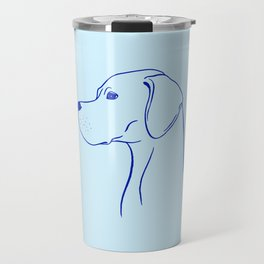 English Pointer (Light Blue and Blue) Travel Mug