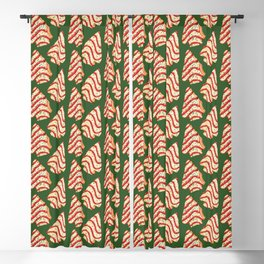 Christmas Tree Cakes Pattern - Green Blackout Curtain