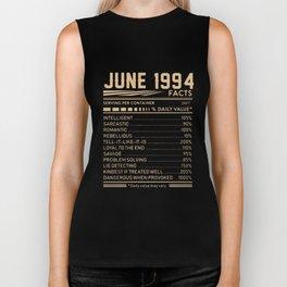 june 1994 facts birthday t-shirts Biker Tank