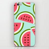 watermelon iPhone & iPod Skins featuring Watermelon by Cute Cute Cute