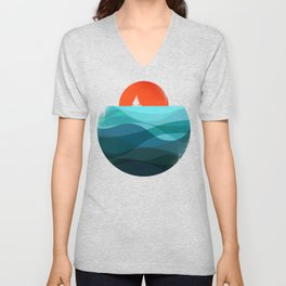 Deep blue ocean Unisex V-Neck