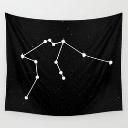 AQUARIUS (BLACK & WHITE) Wall Tapestry