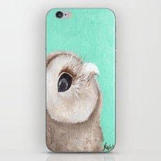 Original Owl Painting Print Aqua Blue Owl Art Owl print Cute Owl art One of a kind Unique iPhone & iPod Skin