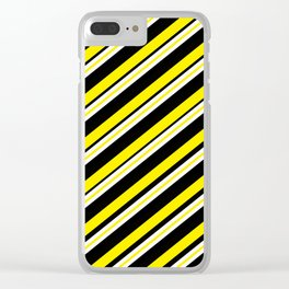TEAM COLORS 1...double yellow,black and white. Clear iPhone Case