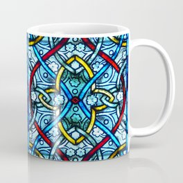 Symmetrical Floral Pattern Notre Dame Stained Glass Coffee Mug