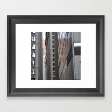 Narrow City Streets Framed Art Print