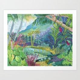 Jungle Paradise Watercolor Art Print