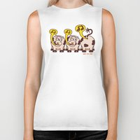 cows Biker Tanks featuring Singing Cows by Zoo&co on Society6 Products