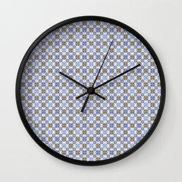 Baroque bleu Wall Clock