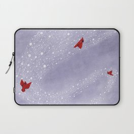 Cardinals in Snow Globe Laptop Sleeve