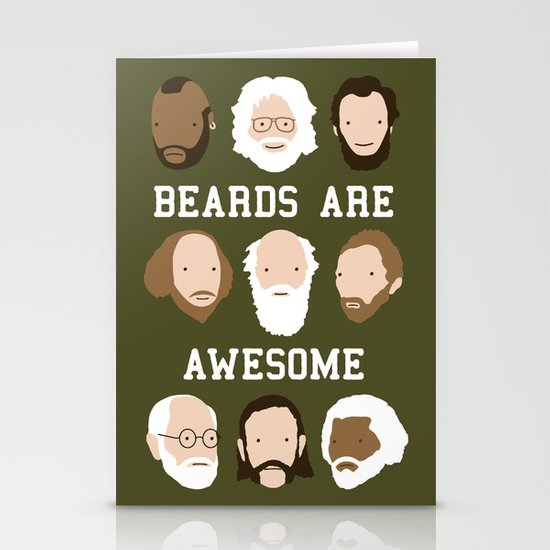Beards Are Awesome Stationery Cards