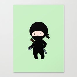 Tiny Ninja Canvas Print
