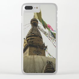 Exploring the City of Kathmandu in Nepal Clear iPhone Case