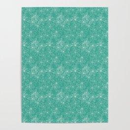 Floral Freeze Mint Poster