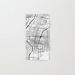 Albuquerque, USA Road Map Art - Earth Tones Hand & Bath Towel
