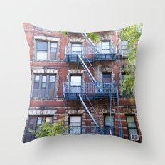 Downtown Walk Up Throw Pillow